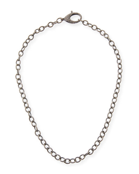 Diamond Lock Chain Necklace, 18""