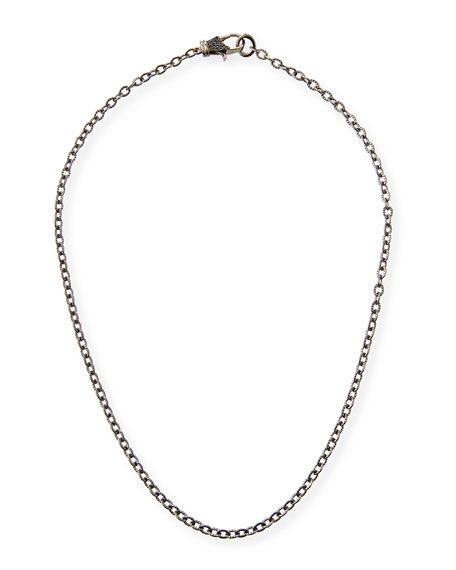 Margo Morrison Rhodium-Plated Sterling Silver Chain Necklace with Spinel Clasp, 18
