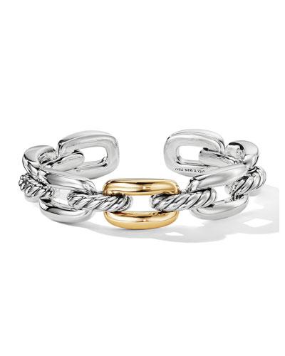 Wellesley Link Single-Stack Bracelet w/ 18k Gold