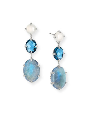 74c299045 David Yurman Chatelaine Triple Drop Earrings, Labradorite