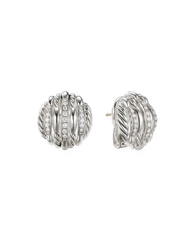Tides Diamond & Cable Stud Earrings