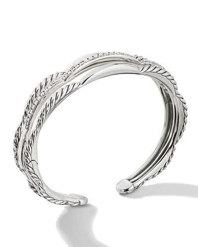 Tides Three-Row Diamond Pave Bracelet