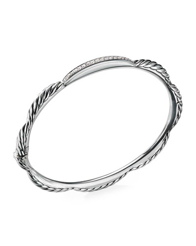 Tides Diamond & Cable Single-Row Bracelet