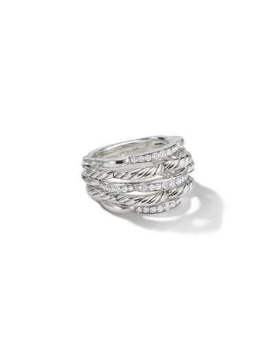 Tides Small Dome & Diamond Pave Ring