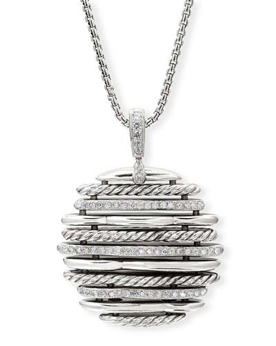 Tides Small Diamond & Cable Pendant Necklace