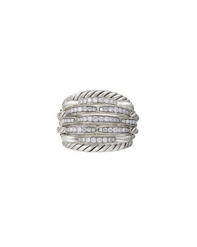 Tides Large Dome & Diamond Pave Ring