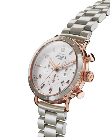 Image 2 of 3: Shinola Canfield Sport 40mm 3-Eye Chronograph Watch with Bracelet