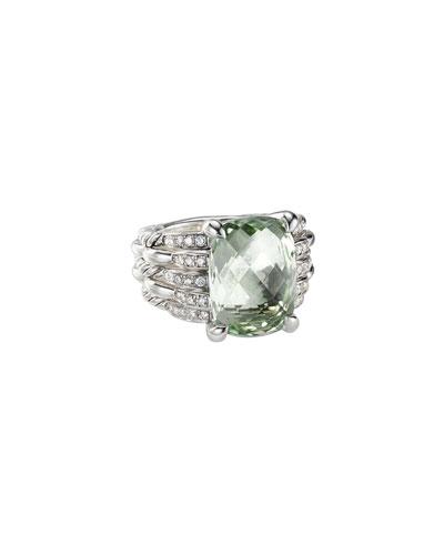 Tides Diamond & Prasiolite Ring