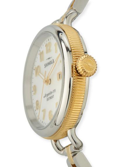 Shinola 34mm The Birdy Two-Tone Bracelet Watch
