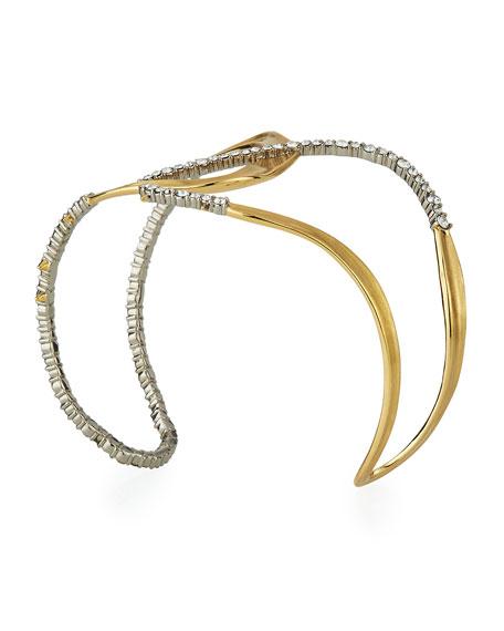Alexis Bittar Crystal Encrusted Freeform Cuff Bracelet