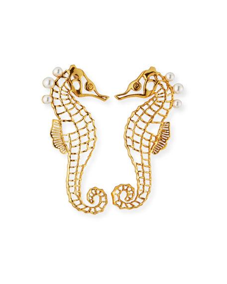 Oscar de la Renta Seahorse Post Earrings