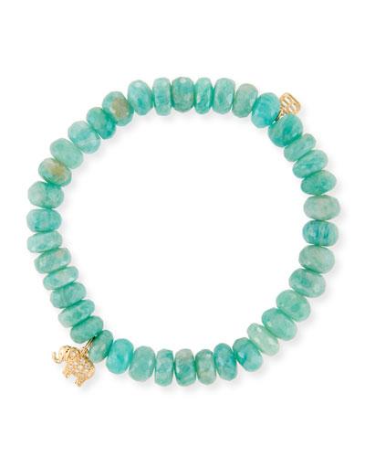 14k Amazonite & Elephant Bracelet