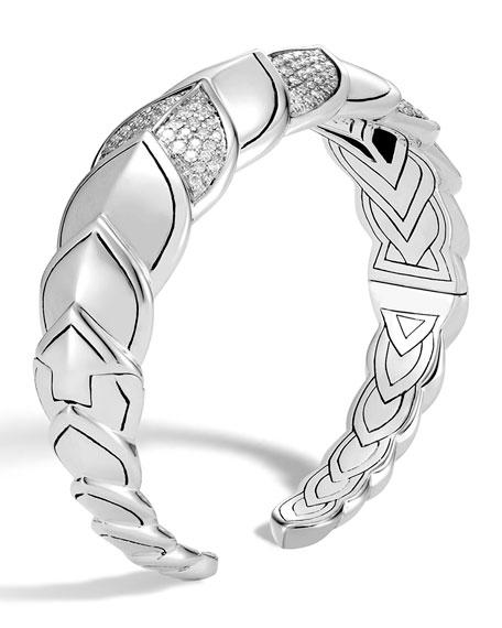 John Hardy Legends Naga Diamond Flex Cuff, Size