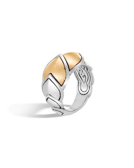John Hardy Legends Naga 15mm 18k Gold Scale Ring