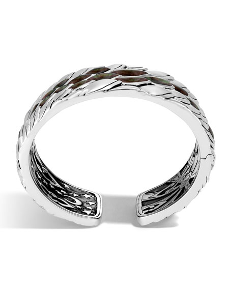 Legends Naga Silver Mother-of-Pearl Kick Cuff Bracelet