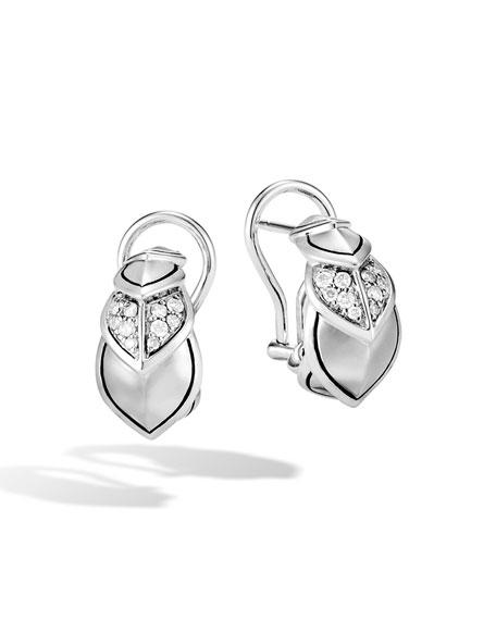 John Hardy Legends Naga Diamond Huggie Hoop Earrings