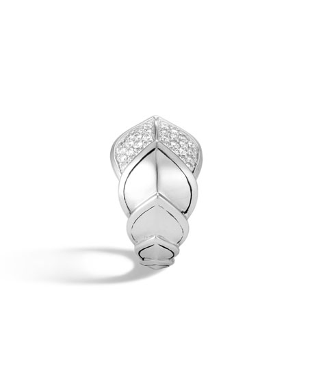 John Hardy Legends Naga 15mm Diamond Scale Ring