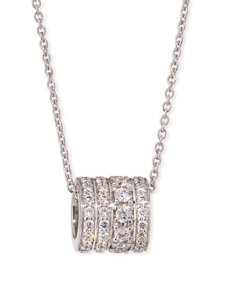 18k White Gold Diamond Rondelle Necklace