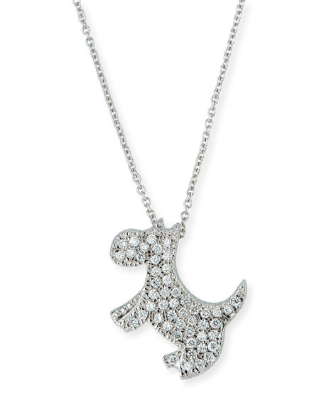 Roberto Coin 18k Diamond Scottie Dog Pendant Necklace
