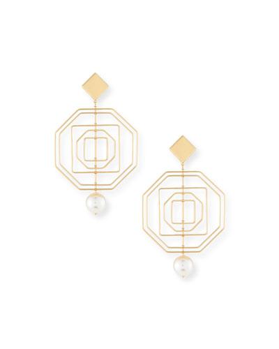 Geo Pearly Statement Earrings