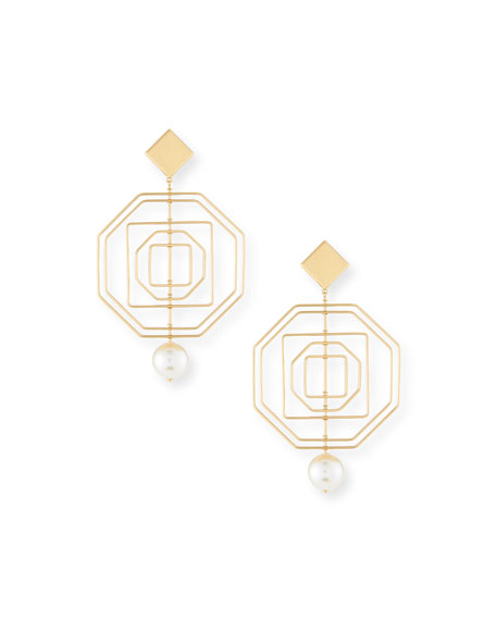Geo Pearly Statement Earrings