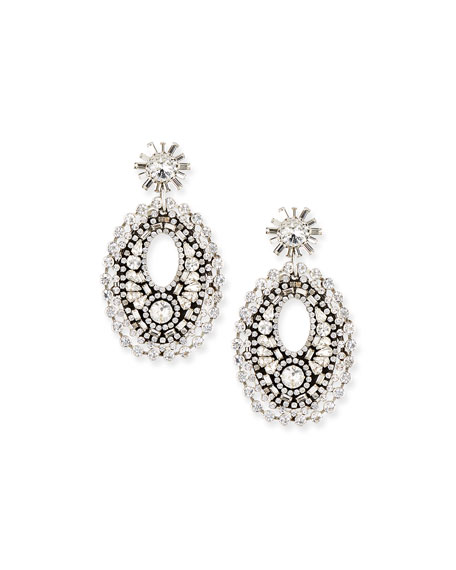 Dannijo Mathilde Crystal Drop Earrings