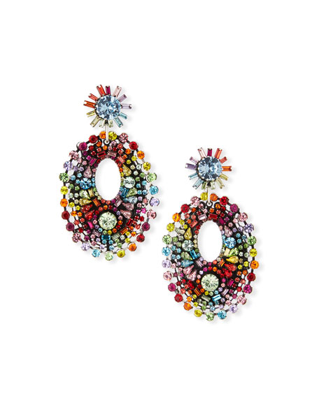Dannijo Mathilde Rainbow Crystal Drop Earrings