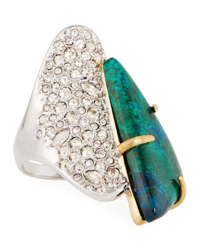 Roxbury Crystal Encrusted Stone Ring