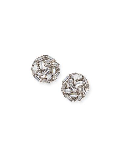 Monarch Micro Baguette Stud Earrings