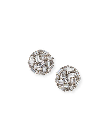 Fallon Monarch Micro Baguette Stud Earrings VcUIptn
