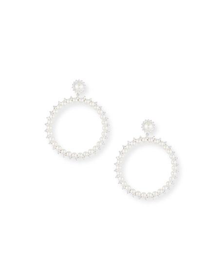 Fallon Pearly Drama Hoop Earrings