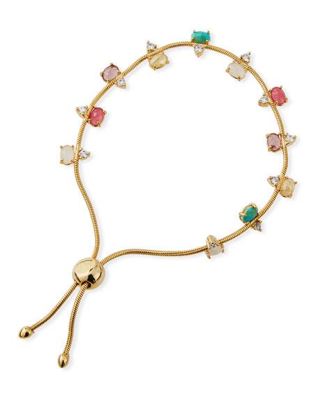 Tai Jewelry Manmade-Opal & Cubic Zirconia Slider Bracelet 2xdakJ5H