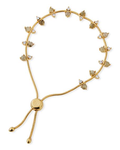 Tai Jewelry Labradorite & Cubic Zirconia Slider Bracelet pzgWha