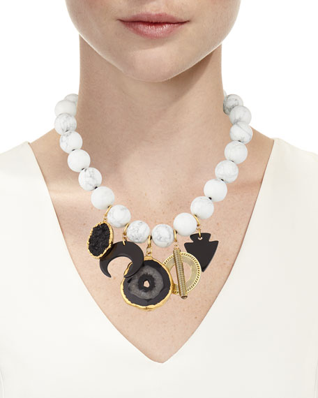 NEST Jewelry Multi-Charm Statement Necklace