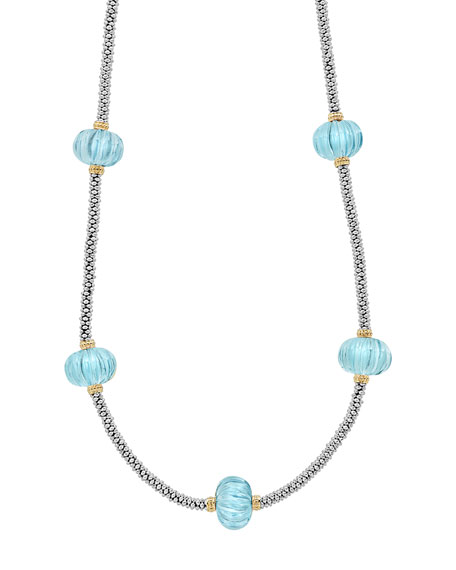 18k Caviar Forever Five-Melon Bead Rope Necklace