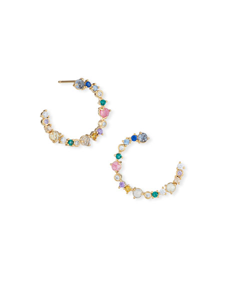 Front-Facing Multicolored Stone Earrings