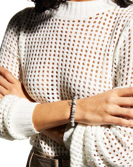 Sydney Evan 14k Silverite & Diamond Lotus Bracelet