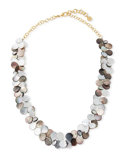Mother-of-Pearl Cluster Strand Necklace