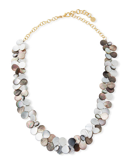 NEST JEWELRY MOTHER-OF-PEARL CLUSTER STRAND NECKLACE