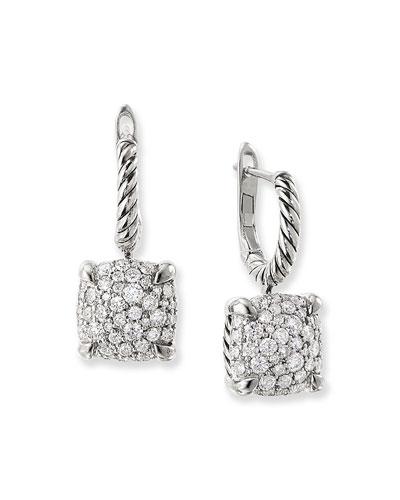 Chatelaine Silver Diamond Drop Earrings