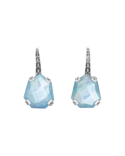 Stephen Dweck Galactical Freeform Triplet Earrings Blue