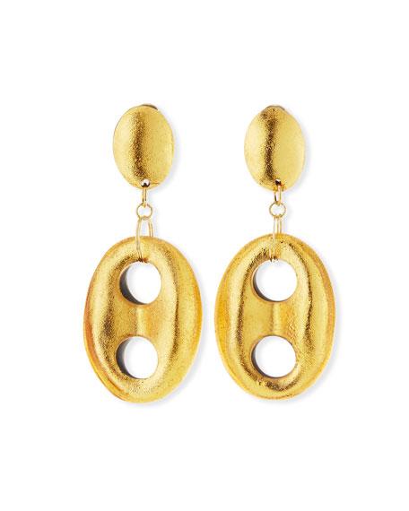 Open-Link Double-Drop Earrings