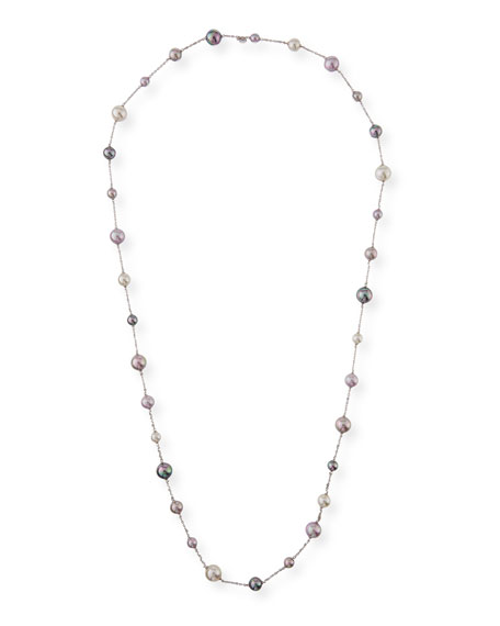 Majorica Multihued Manmade Pearl Chain Necklace, 43