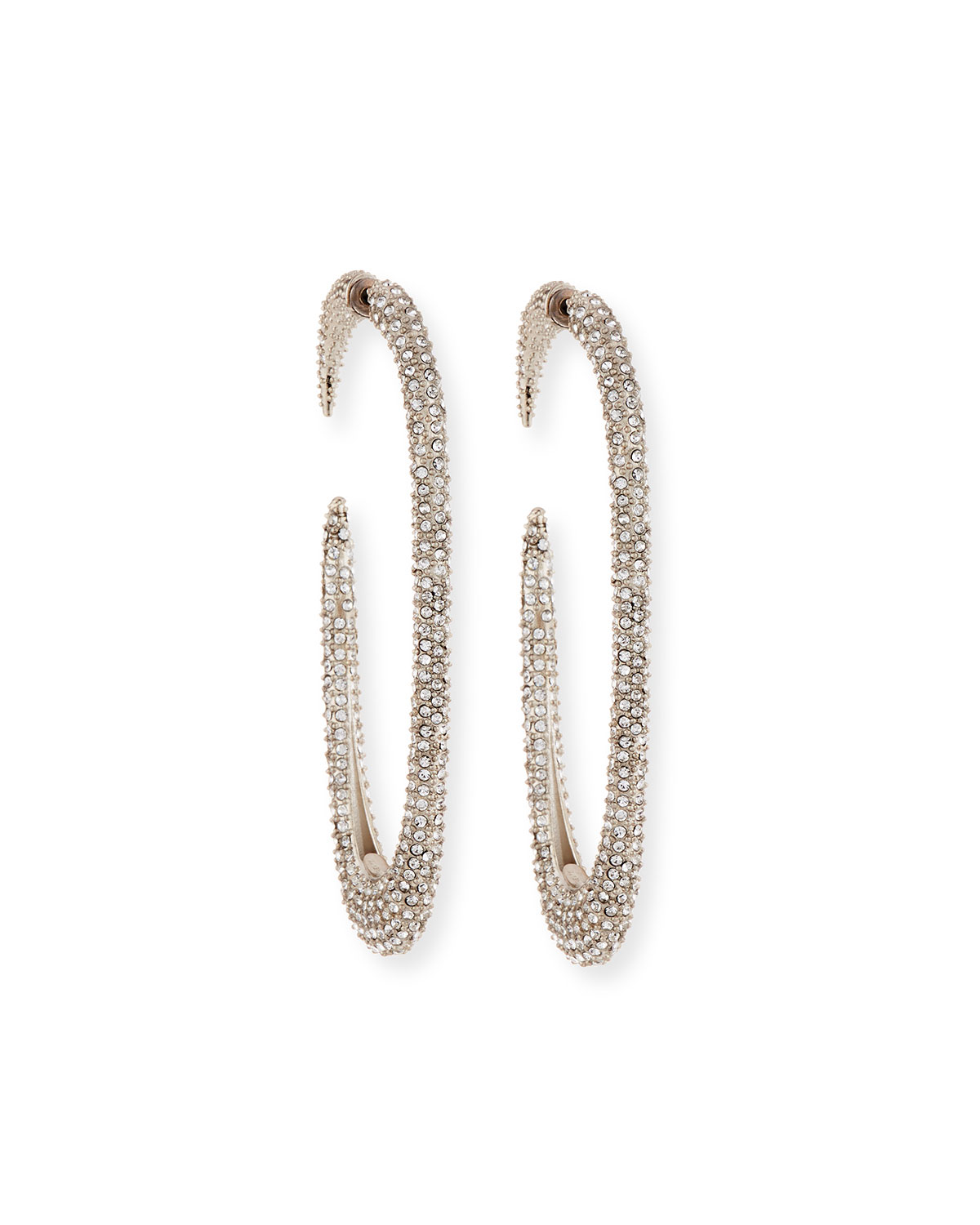 e6c6cdabd7e4 Saint Laurent Large Crystal Hoop Earrings