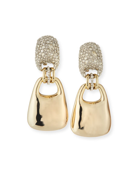Alexis Bittar Encrusted Swinging Clip-On Earrings with Watery