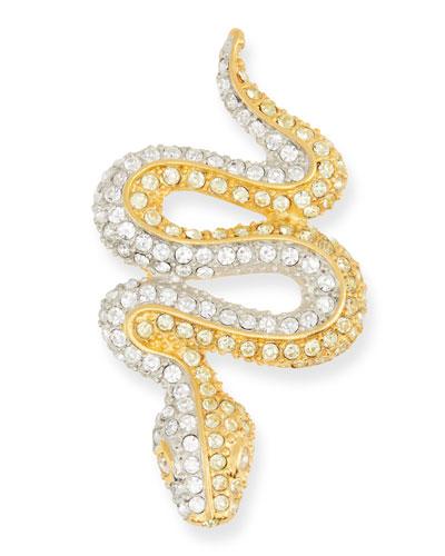 Jonquil Crystal Snake Pin