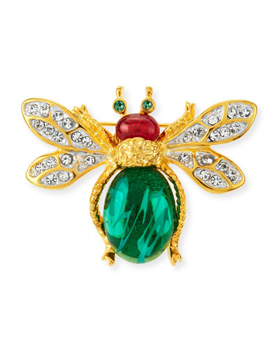 Crystal Bee Pin