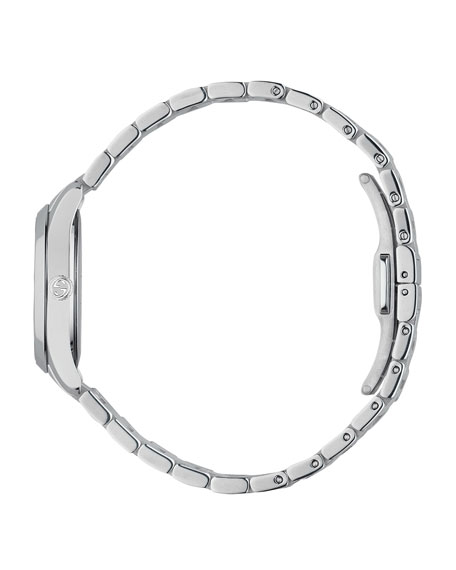 Gucci 27mm G-Timeless Bracelet Watch w/ Feline Motif, Steel