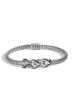 John Hardy Classic Chain Black Spinel & Sapphire Link Bracelet
