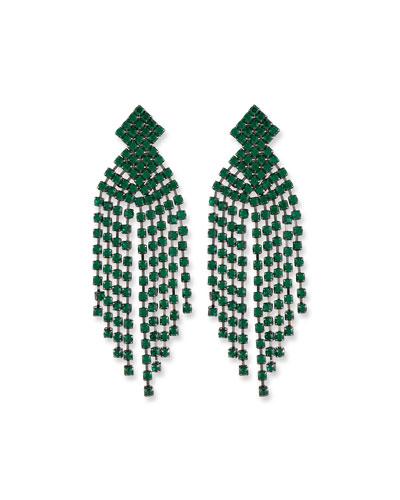 Emerald Waterfall Clip-On Earrings